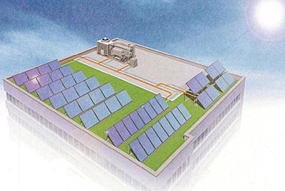 高効率ソーラー空調システム